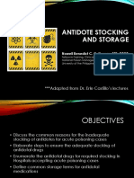 ANTIDOTE-STOCKING & STORAGE