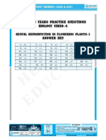 NEET TEST SERIES_ANSWER KEY __2020 BIOLOGY  Sexual Reproduction in Flowering Plants–1 (15-06-2019)