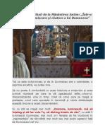 """Arhimandrit Mihail de la Mănăstirea Antim - """"Într-o permanentă mișcare și căutare a lui Dumnezeu"""""""