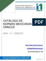 Catalogo de Normas Mexicanas Oncce