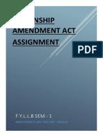 CITIZENSHIP AMENDMENT ACT, LAW ASSIGNMENT.docx