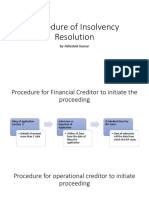 Procedure of Insolvency Resolution