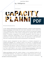 Capacity Planning - intelligencia