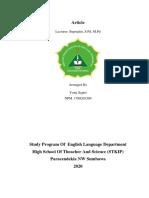 An Analyzing of language loss in tatebal village