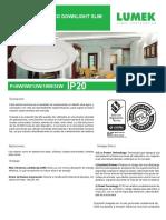 Led Eco Downlight Slim Incrustar Redondo.pdf