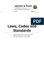 LAWS CODES AND STANDARDS