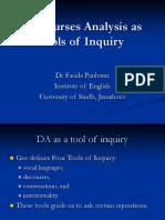 DA as tool of Inquiry