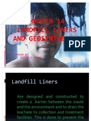 LANDFILL LINERS AND GEOSYNTHETICS ppt | Fibers | Chemical