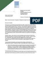 lettre à l'AMF du 1er décembre 2010