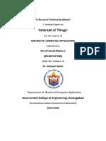IOT seminar report