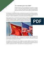 perspectivas de la economía del Peru para este 2020