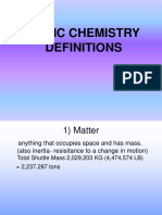 Chemistry Vocabulary - H. Bio. Web Version