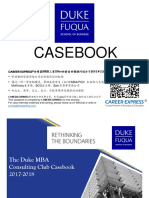 Duke Fuqua Casebook Consulting Case Interview Book 2017_2018杜克大学富卡商学院咨询案例面试