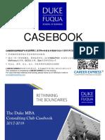 Duke Fuqua Casebook Consulting Case Interview Book 2017_2018杜克大学富卡商学院咨询案例面试