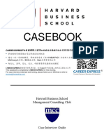 Harvard HBS Casebook Consulting Case Interview Book哈佛商学院咨询案例面试