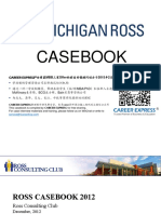 Michigan Ross Casebook Consulting Case Interview Book 2012密西根密歇根大学罗斯商学院咨询案例面试