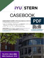 NYU Stern Casebook Consulting Case Interview Book 2018_2019纽约大学斯特恩商学院咨询案例面试
