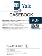Yale SOM Casebook Consulting Case Interview Book 2013耶鲁大学商学院管理学院咨询案例面试