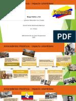 Antecedentes Históricos – Impacto colombiano