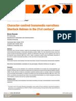 Narrativas transmediales centradas en los personajes. Sherlock Holmes en el siglo XXI