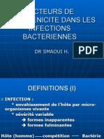 Facteurs de Pathogenicite Dans Les Infections Bacteriennes