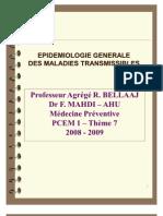 Epidemiologie Generale Des Maladies Transmissibles
