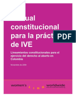 Lineamientos constitucionales Womens Link Worlwide (2009) Manual Constitucional IVE Colombia