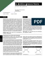 Efecto de los ácidos grasos trans sobre las lipoproteínas del plasma