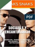 Sociable y encantadora Manual para hombres, mujeres y niños introvertidos