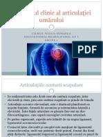 Examenul clinic al articulației umărului