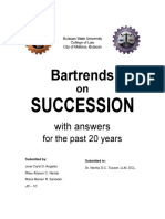 BARTRENDS ON SUCCESSION WITH ANSWERS FOR THE PAST 20 YEARS