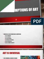 Assumptions of Art