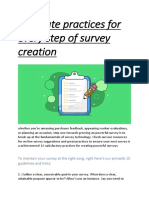 Best Survey Creation Guide
