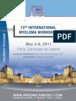 Preliminary Programme 13th IMW 2011
