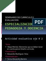 Mapa mental sobre la estructura curricular - EJE 2