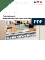 Merkblatt Fertigteilestrich Konstruktion Gipsfaserplatten