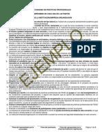 EJEMPLO CONVENIO PRACTICAS PROFESIONALES 2016