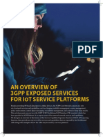 An Overview of 3GPP Exposed Services for IoT Service Platforms