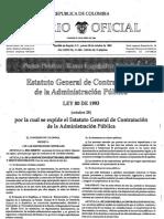 Ley 80 de 1993 (Estatuto General de la Administración Pública)