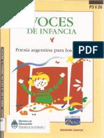 Voces de Infancia - Antología - Ediciones Colihue