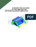 Diseño de un seguro para elevador de carga de 1ton ,simulado con software solidworks simulation.docx