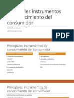 Principales instrumentos de conocimiento del consumidor