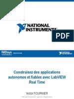 Construisez des applications autonomes et fiables avec LabVIEW Real Time