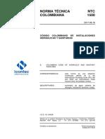 NTC 1500 Código Colombiano de Fontanería (Tercera Actualizacion).pdf