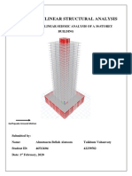 Linear dynamic analysis of a 30-storey building