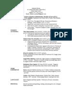 Model CV for SLS Students