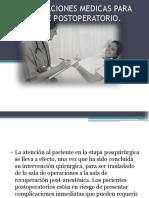 RECOMENDACIONES MEDICAS PARA EL PACIENTE POSTOPERATORIO