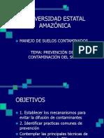 Prevencion de Contaminacion en suelos.ppt