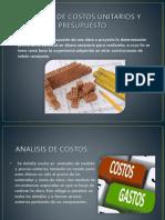 Análisis de costos unitarios avnze 22