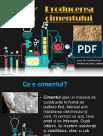 producerea cementului